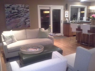 Sitting area with fireplace (not shown) off kitchen. Great for visiting.