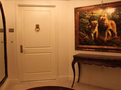 Private entrance foyer off of private elevator