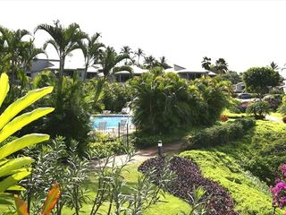 Wailea condo photo - View of the Ekolu Pool from your lanai
