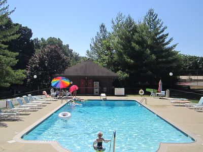 Heated pool is rarely crowded. Paradise in your own back yard!