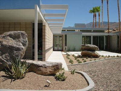"Entrance- Visit FaceBoook page :""Palm Springs Vacation Rental"""