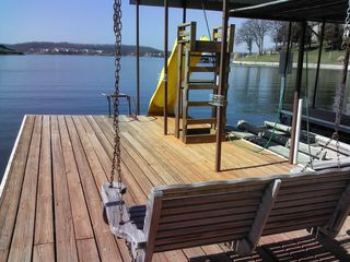 Lake Ozark house photo - Dock with slide and porch swing