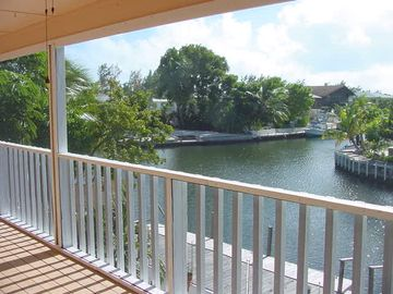 Islamorada house rental - Canal view from screened porch