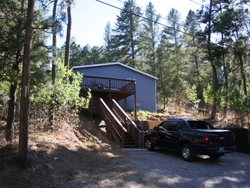 Ruidoso cabin rental - Parking for 3 vehicles. Many steps not good for elderly.