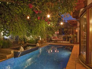 West Hollywood house photo - Poolside at night