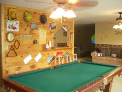 POOL TABLE, BAR, PULL OUT COUCH