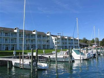Charlevoix condo rental - Foster Boat Works Condo Waterfront View