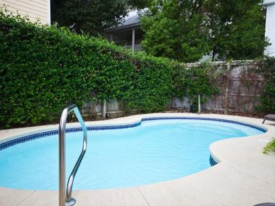 Relax & play in the private courtyard's LARGE heated pool!