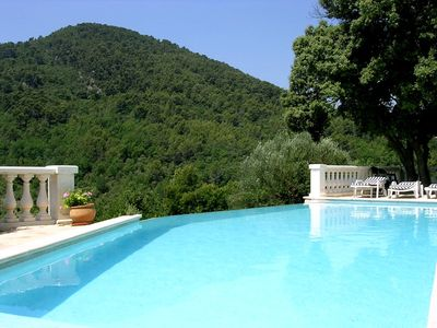 Fayence villa rental - The view from the infinity pool