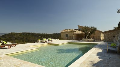 Stunning elegant accommodation, beautiful pool and far reaching views.