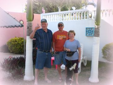 More Spring 2013 Guests - Gordon from Canada with Janet & Bill from Arizona.