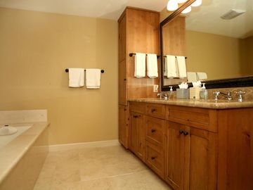 Updated downstairs master bathroom