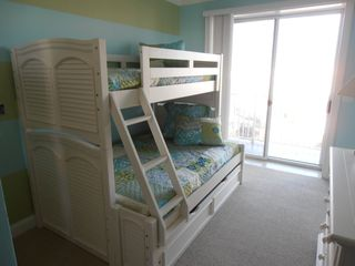 Belmont Towers Ocean City condo photo - Bunk beds with twin trundle