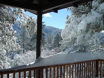 Idyllwild lodge rental - The views after a night of snowfall should not be missed!