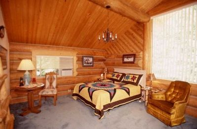 One of six guest rooms in the main lodge.
