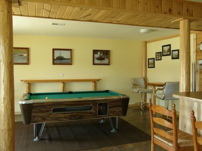 Pool table area.