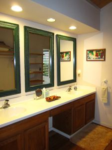 Part of the spacious master bath...