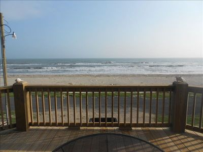 Crystal Beach cabin rental - Beach view from the huge deck (Actual Photo)