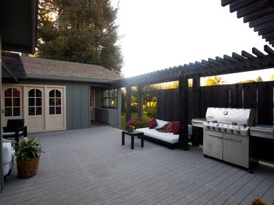 Furnished Deck with Propane BBQ and Prep Space/Main House