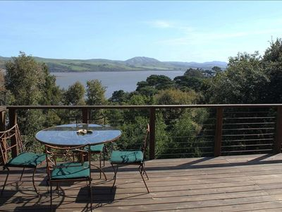 View of Tomales Bay from back deck