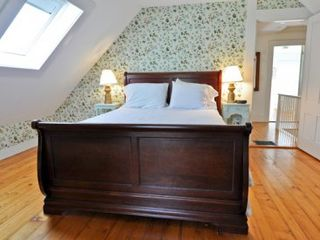 Vineyard Haven house photo - Bedroom #3 - Queen Bed With Skylight, Sitting Area With Sofa. Second Floor