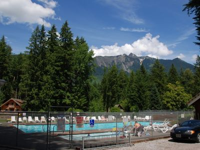 Snowline's Outdoor Heated Seasonal Pools available to all guests