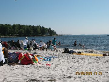 Voted the prettiest beach in Maine, Pemaquid Beach, only minutes away
