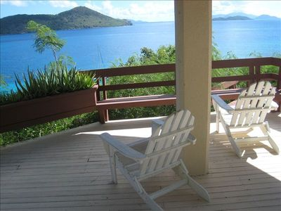 Hilltop gazebo with views of St. John and the BVI