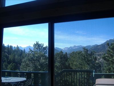 Mountain View From The Main Living Area-Yes, Even From Inside The Home