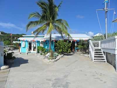 The local island yacht club where there is plenty of activity