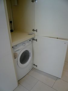Concealed Zanussi wash and dryer