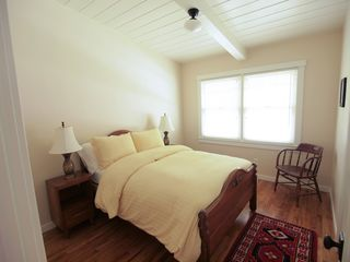 Pacific Grove house photo - Downstairs bedroom with a double bed.