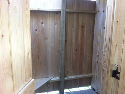out door shower w/ changing area