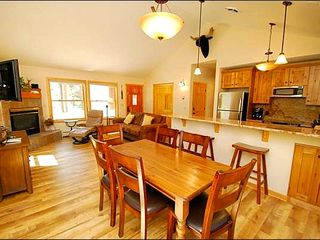 Keystone condo photo - Beautiful Hardwood Floors and an Intimate Dining Area