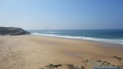 The beach at Praia das Macas