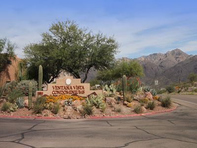 Entrance to Ventana Vista Condominiums at 5051 N Sabino Canyon Road