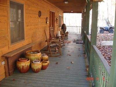 Greenbrier County lodge rental - Rock Away your stress on your Rocking Chairs!