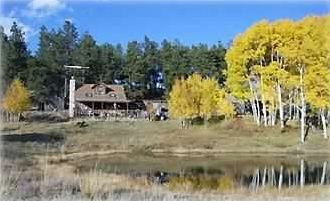 Historic cabin and pond