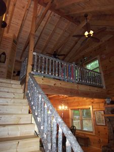 Loft in cabin with 2 twin beds