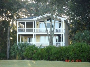 Fripp Island house rental - House view from the golf course