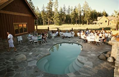 Pool is a great place for dinners and larger gatherings or Destination Weddings
