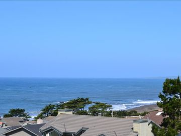 Cambria house rental - View from the deck and master bedroom. Extra large deck with adirondack chairs.