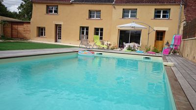 2:00 paris house in the vineyards, private heated pool 6/8 pers