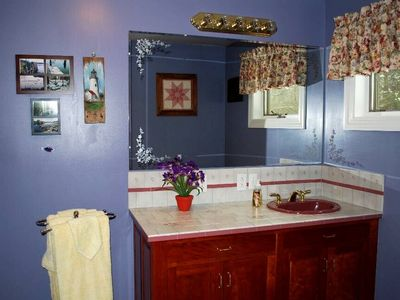 Private master bathroom.