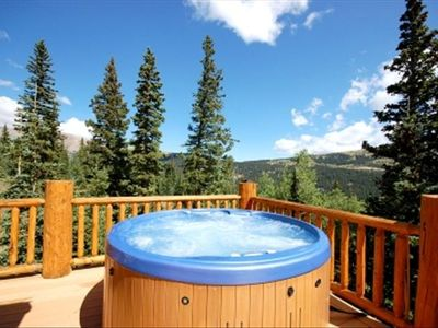 Relax In Hot Tub With Mountains On All Sides, Sunshine, Cool, Fresh Mountain Air