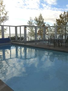 Year 'round outdoor pool - Lake views, whirlpool, sunning decks; just steps away