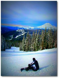 There is no place like White Pass with incredible views of Mt Rainier!