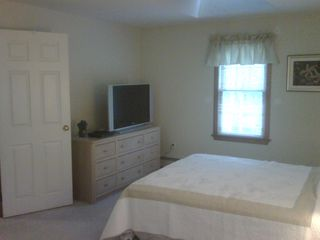 Mashpee house photo - Master bedroom with 37 inch HD flat screen TV.