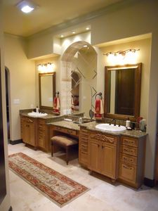 Master bath his & her vanities.