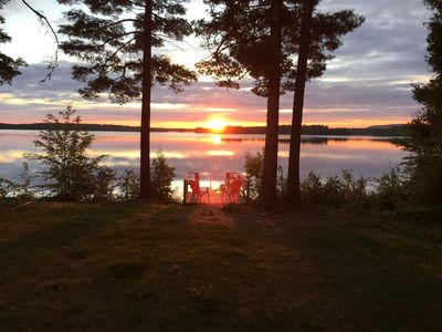 Lake Front Cottage on Picturesque Pocomoonshine Lake with Spectacular Sunsets